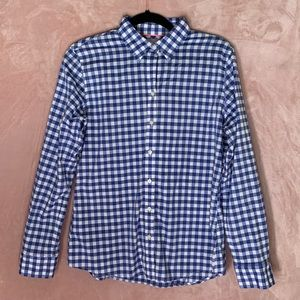 Banana Republic Blue Gingham Soft Wash Top